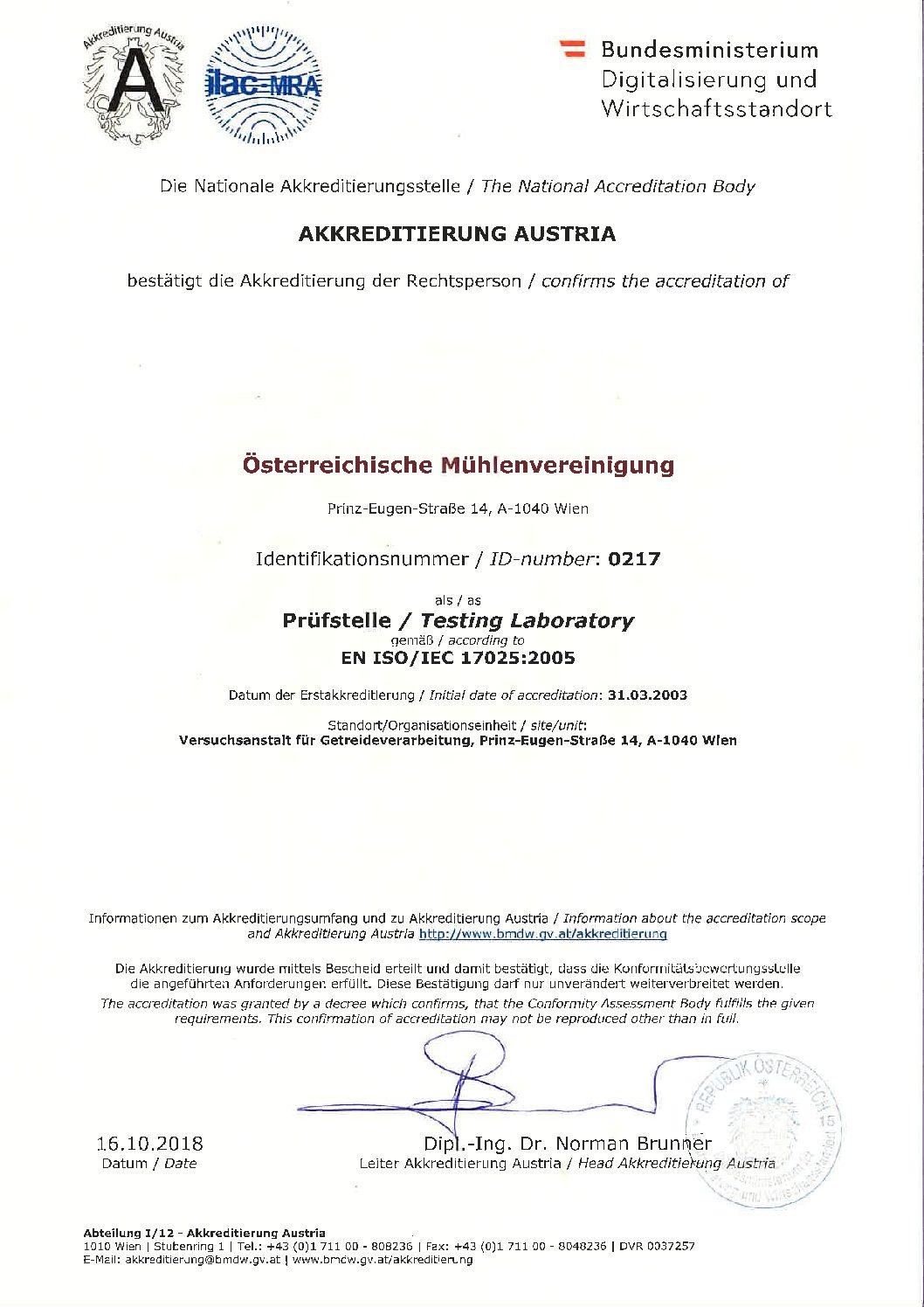 Accreditation VG